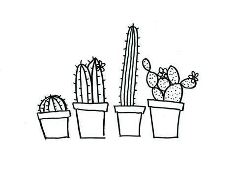 sketch pattern download quirky cactus hand embroidery pattern pdf download