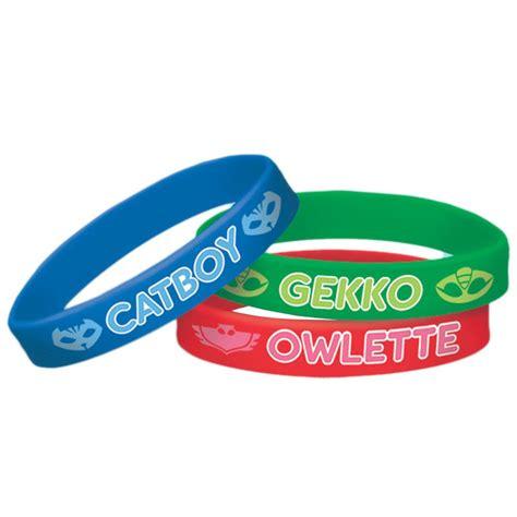 rubber st supplies wholesale pj masks rubber bracelet favors decorations and