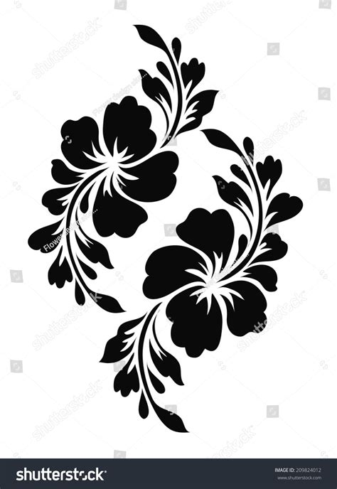 royalty free flower motif for design 209824012 stock