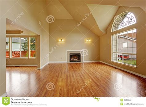 arch floor ls for living room empty living room with high ceiling and fireplace royalty