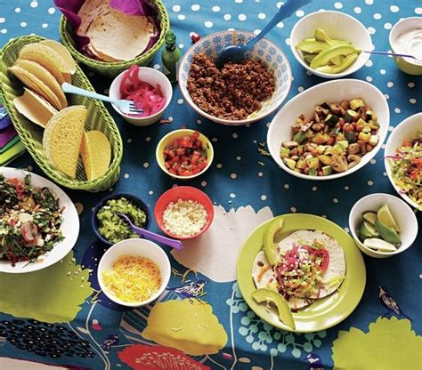 toppings for taco bar how to set up a family friendly taco bar real simple