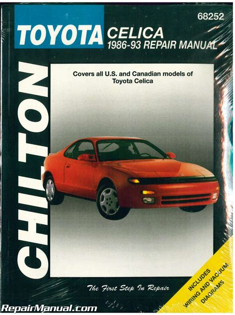 old car repair manuals 1993 toyota celica on board diagnostic system chilton toyota celica 1986 1993 repair manual