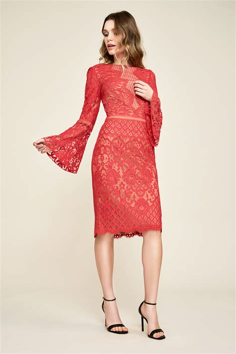 Bell Sleeve Lace Dress kyra bell sleeve lace dress tadashi shoji