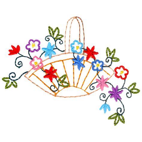 design a flower basket flower basket freeembroiderydesigns com
