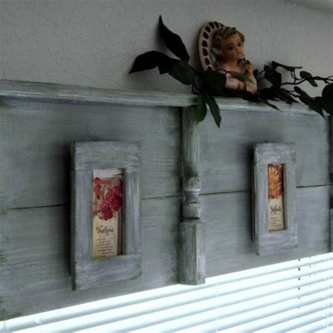 primitive headboards wooden window cornice or headboard with display shelf and