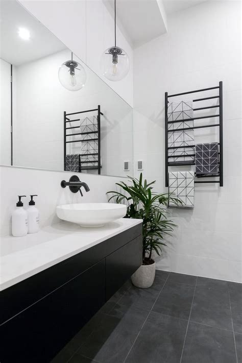 hotel powder room design black  white houzz landscaping