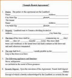 rental home agreement template 8 house rental agreement template printable receipt