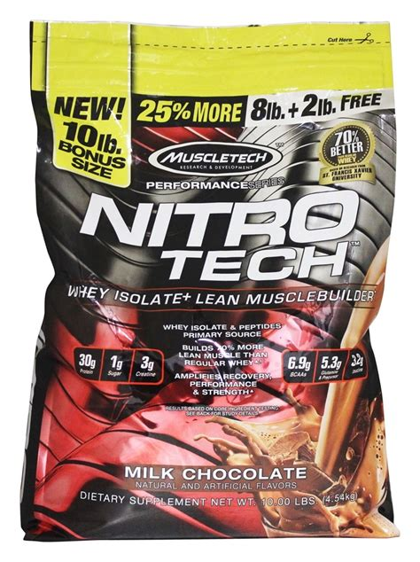 Muscletech Nitrotech Whey Protein 10 Lbs 10 Lb buy muscletech products nitro tech performance series