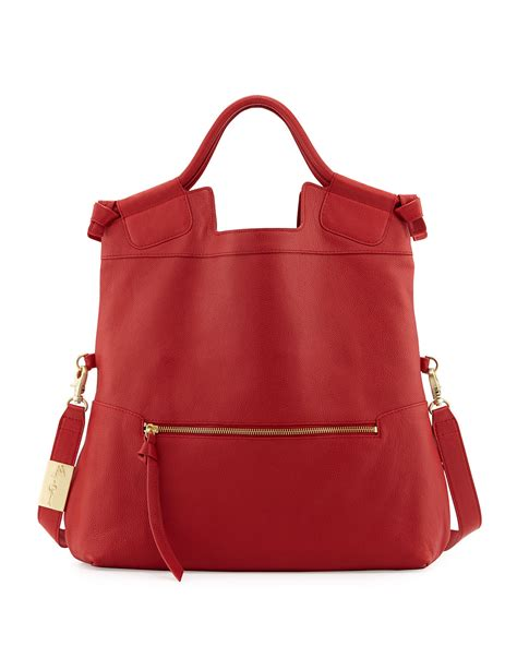 Corrina City Tote Xl by Foley Corinna Foley Corinna Mid City Zip Tote Bag Cherry