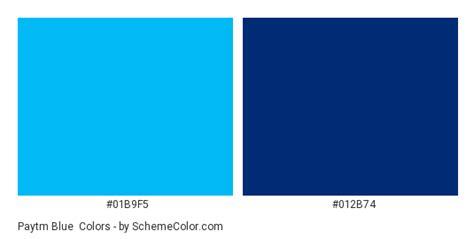paytm blue color scheme blue schemecolorcom
