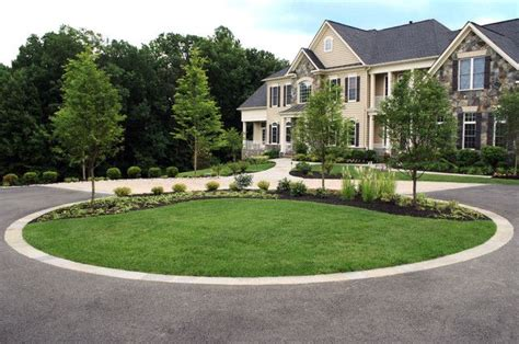 front driveway ideas contemporary landscape design with circular driveway for front yard 9