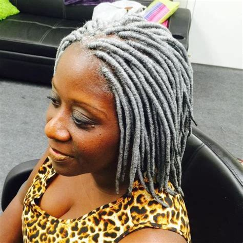 looking for black hair braid styles for grey hair 35 short faux locs and protective goddess locs styles