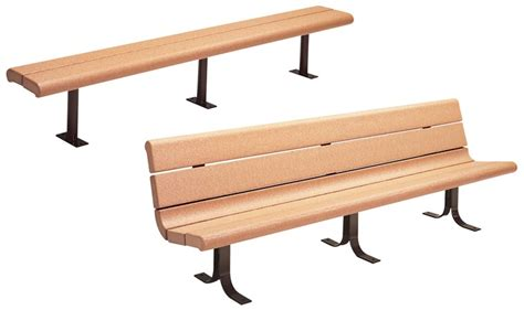 recycled contour series bench 2 5 quot recycled poly plank bench 60 or 96 quot landscape