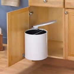 In Cabinet Trash Can With Lid Swing Out Trash Can Waste Bin 12l Automatic Touchless Lid
