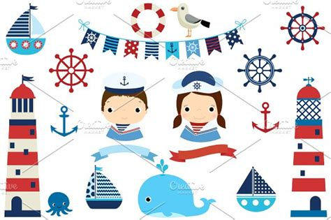 boat themed clipart nautical clipart boat lighthouse illustrations