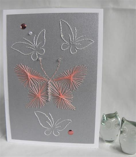 17 best images about cards with string embroidery or