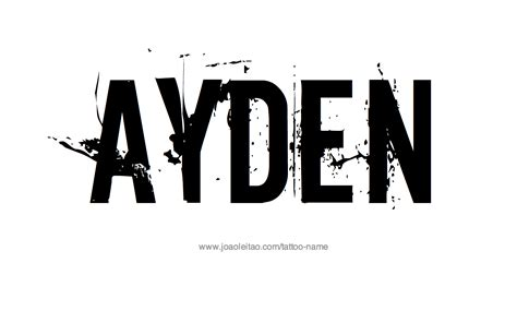 ayden name tattoo designs