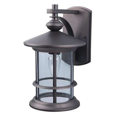 Outside Light Fixtures Lowes Shop Canarm Treehouse 13 In H Rubbed Bronze Outdoor Wall Light At Lowes