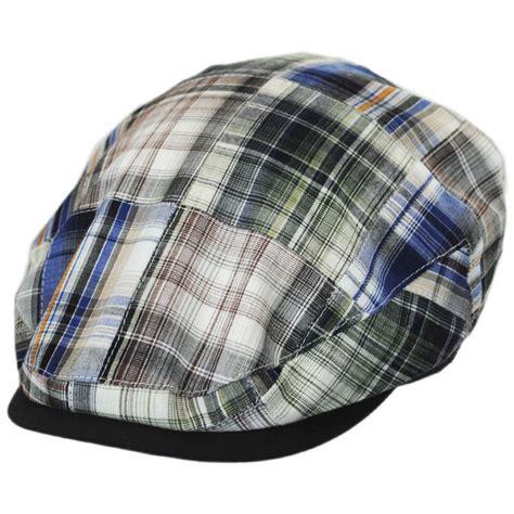 Patchwork Plaid - stetson madras plaid patchwork cotton cap olive caps