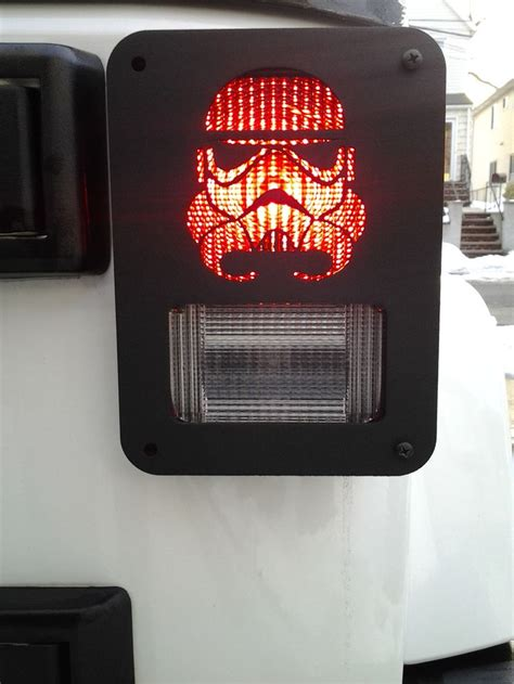 custom jeep tail light covers quot trooper quot custom jeep wrangler tail light guards by