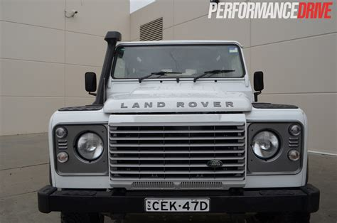 range rover front land rover defender 90 review performancedrive