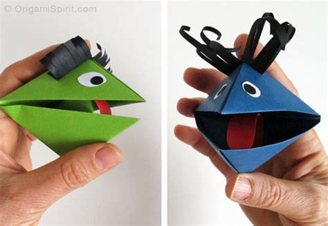 How To Make Puppets At Home With Paper - origami a paper puppet for