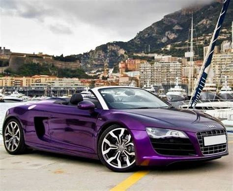 purple convertible audi audi r8 and purple on