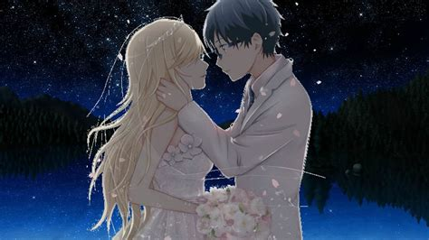 cute wedding couple anime www pixshark com images