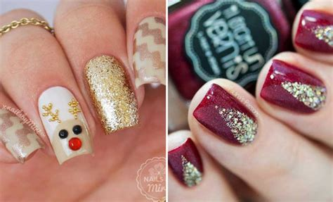 christmas pattern nail st 29 easy winter and christmas nail ideas stayglam