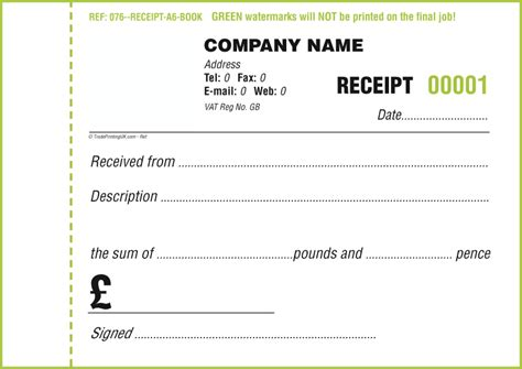 Receipt Book Template Free receipt books template images