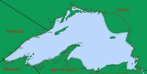 lake superior map lake superior circle tour map