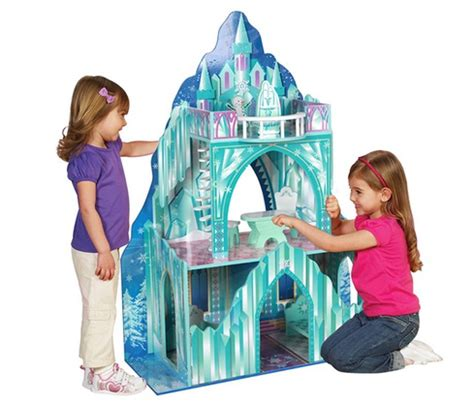 frozen doll house groupon frozen inspired ice mansion dollhouse by teamson only 79 99 shipped reg