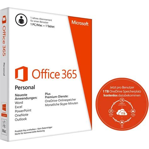 Microsoft Office Personal by Microsoft Office 365 Personal Version 1 License