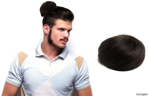clip on top knot for men man bun
