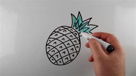 Easy Things To Draw On A Whiteboard by How To Draw A Pineapple Easy For Drawing On A