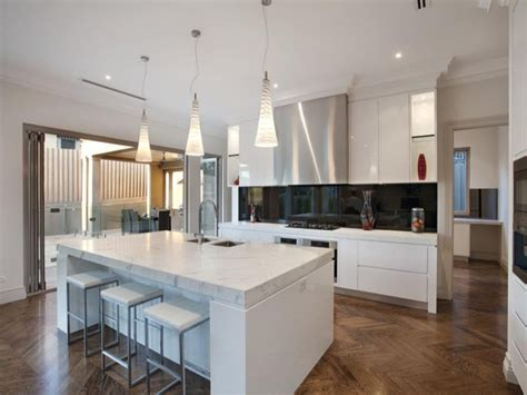 modern kitchen island ideas modern island kitchen design using floorboards kitchen