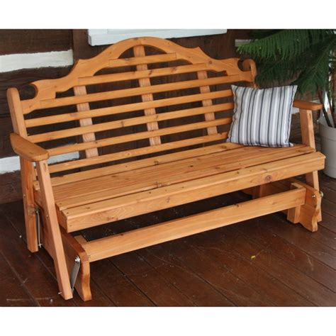 patio rocking bench furniture cool glider bench for your outdoor cafe1905 com