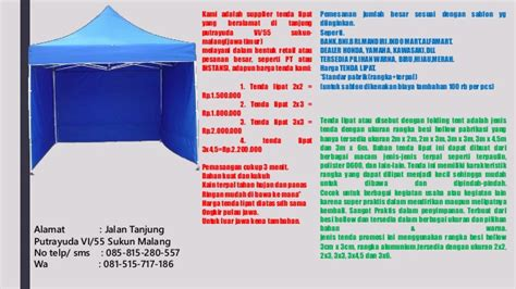 Tenda Cafe 2x3 Wa 089512536226 2 rental tenda malang tenda cafe malang tenda promosi