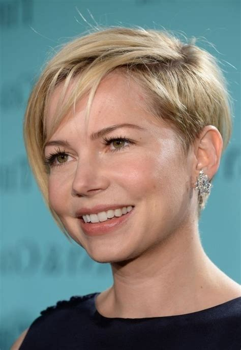 shave around the ear womens chops hairstyles michelle williams short pixie sty e and shaved