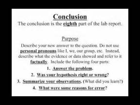 How Do You Write A Conclusion In An Essay by 1 8 How To Write A Lab Report Conclusion