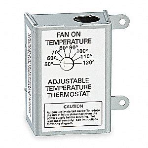 thermostat controlled exhaust fan air vent attic fan t stat line volt 50 120 deg f 3hjn6