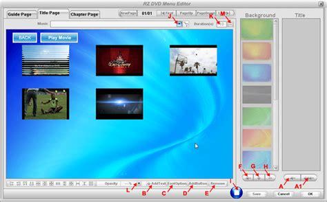 best dvd menu creator rz dvd creator user guides create dvd title menu dvd