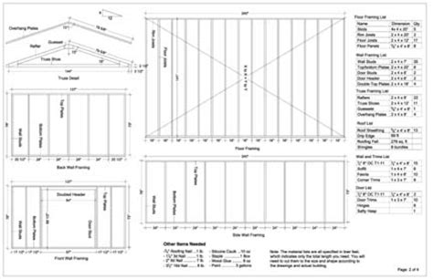 Free Shed Blueprints 12x20 by Storage Sheds Plans 12x20 Images