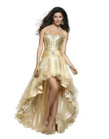 Golden gold high low prom dresses jovani expensive cute lovely