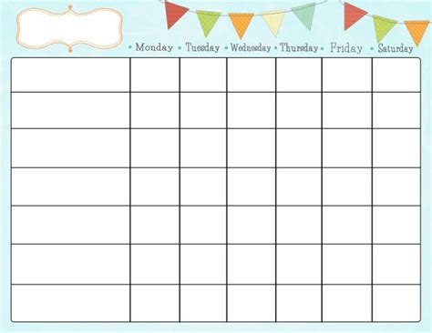 free printable chore charts kiddo shelter printable