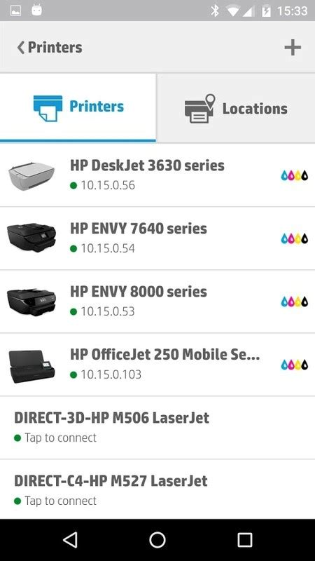 hp printer app for android hp eprint free android app the free hp eprint app to your android phone or