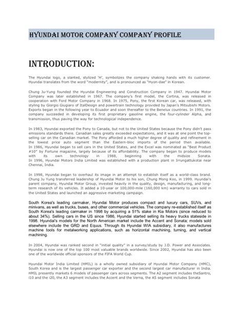 hyundai board of directors hyundai motor company in china study impremedia net