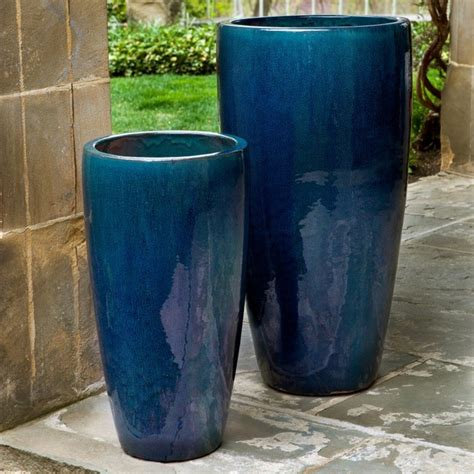 planters and pots cania international rioja planter set of 2 8924