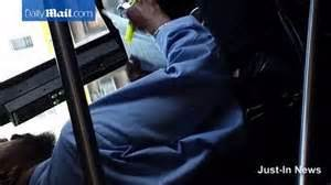 no driving after c section nyc bus driver caught reading papers and driving with no