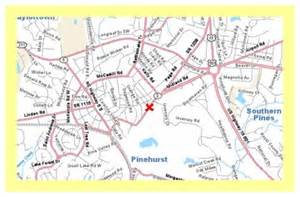 pinehurst map directions and maps for southern pines and pinehurst nc